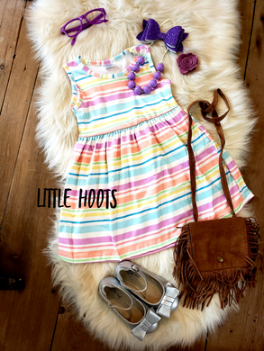 IN STOCK! Pastel Stripe Tank Dress