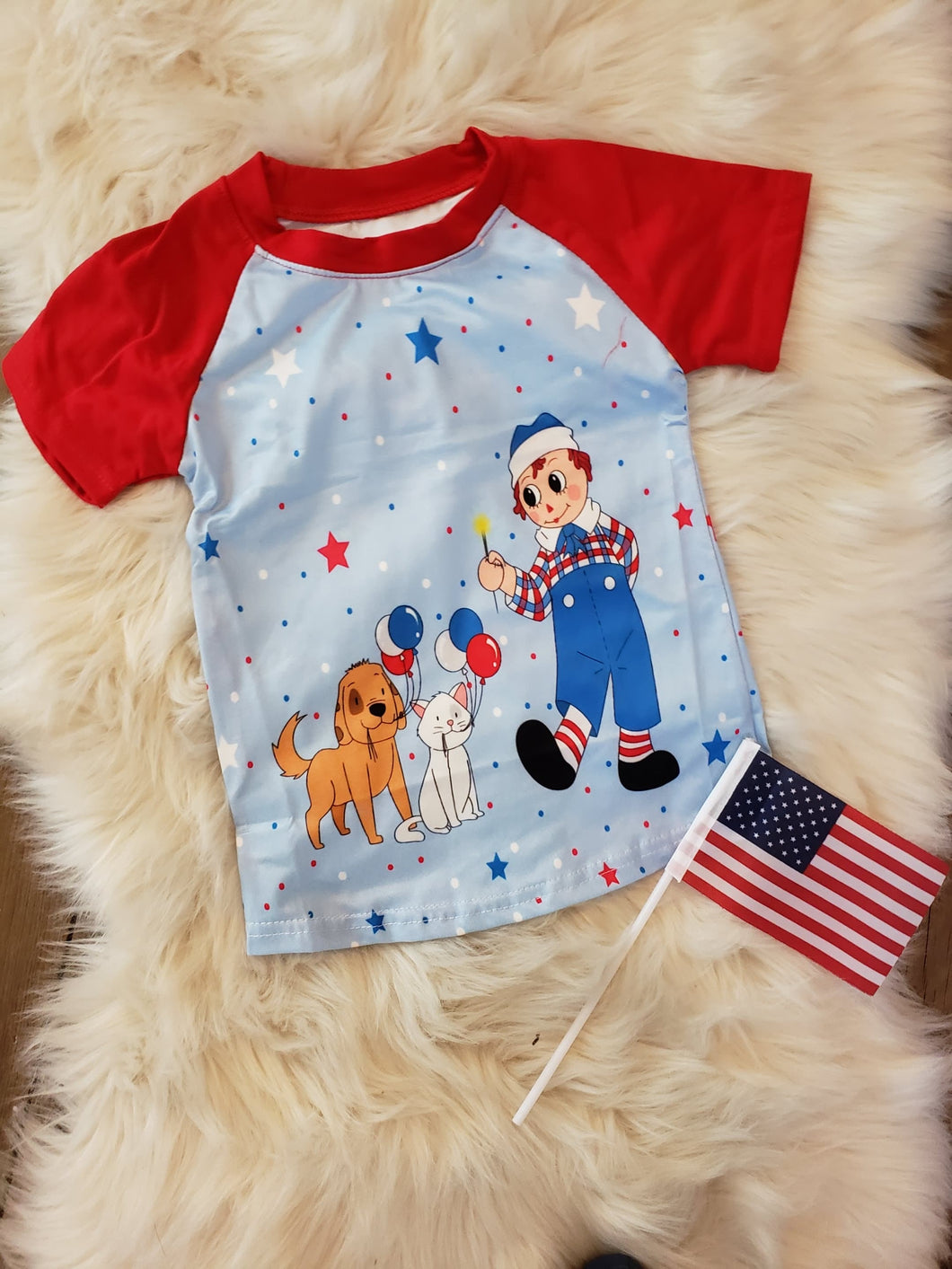 sale! IN STOCK! Raggedy Andy Patriotic Raglan