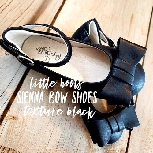 sale! IN STOCK! Sienna Bow Shoes-Black Texture