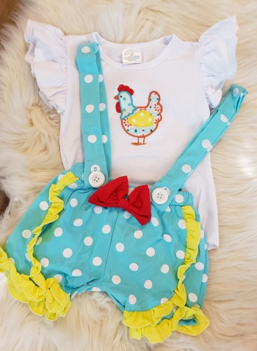 SALE! IN STOCK! Chicken Suspender Set