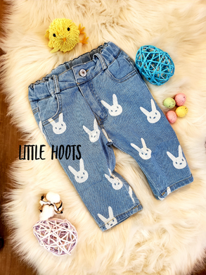 IN STOCK! Unisex Denim Bunny Capri Pants