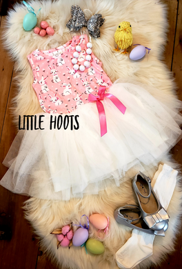 IN STOCK! Pink Bunny Tulle Dress