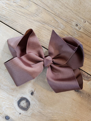 SALE! IN STOCK! 6 inch Brown bow