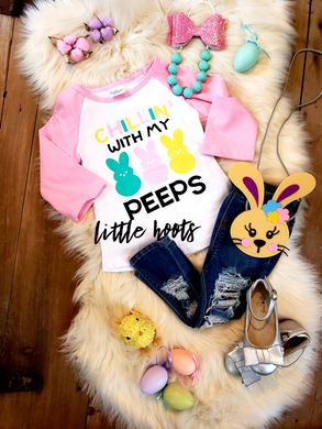IN STOCK! Peeps Pink Raglan