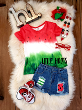 sale! IN STOCK! Watermelon Distressed Denim Set