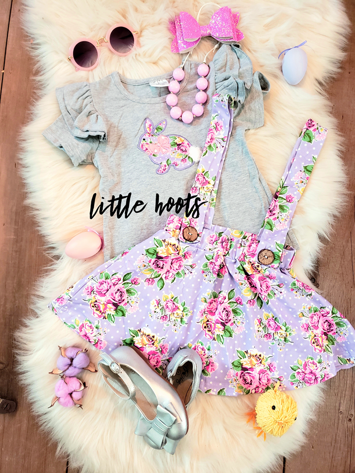 IN STOCK! Floral Bunny Suspender Set