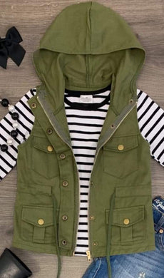 SALE! IN STOCK! Green Vest