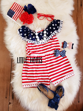 sale! IN STOCK! Patriotic Shorts Romper