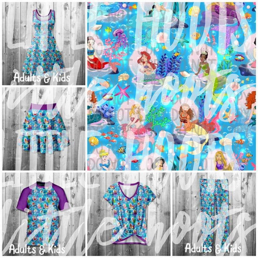 IN STOCK! Underwater Princesses Kids Dress