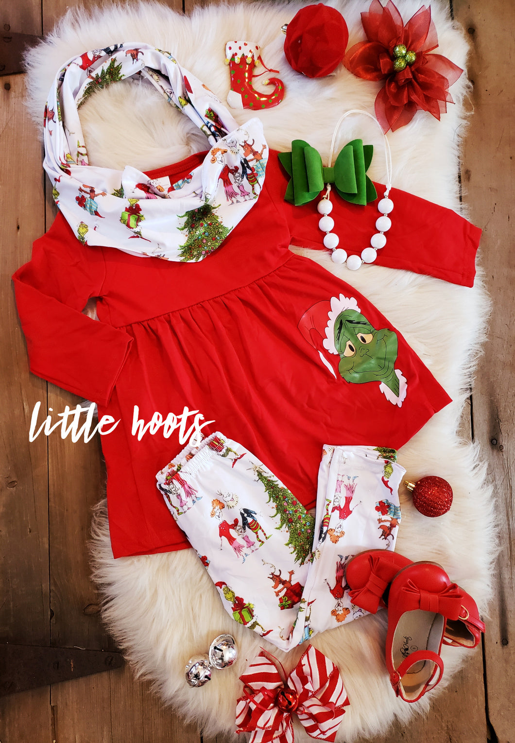 IN STOCK! Grinch 3 piece set