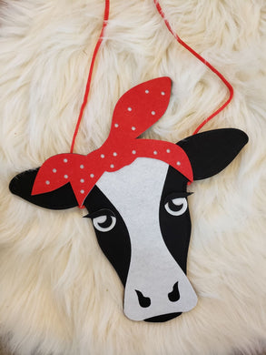 sale! IN STOCK! Bandana Cow Purse
