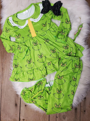 IN STOCK! Girls Grinch PJ Set