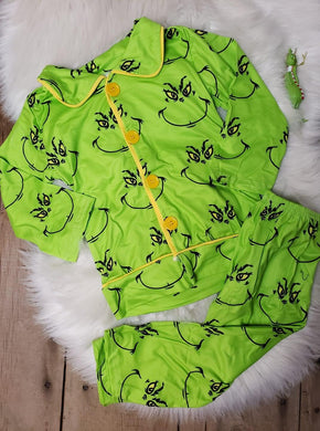 IN STOCK! Boys Grinch PJ Set