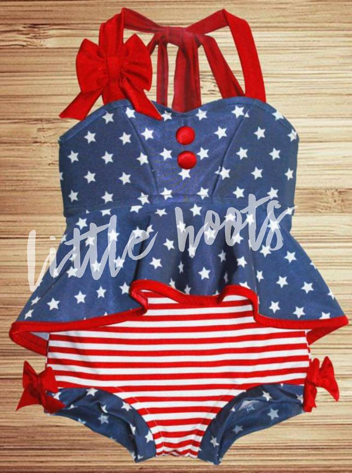IN STOCK! Stars and Stripes Bathing Suit