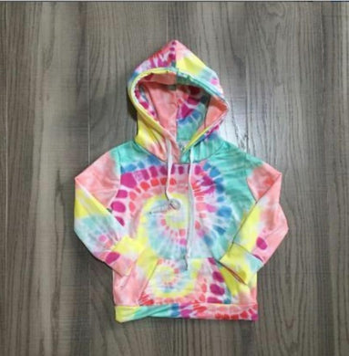 INVENTORY LIQUIDATION! IN STOCK! Springtime Pastel Peach Tiedye Hoodie