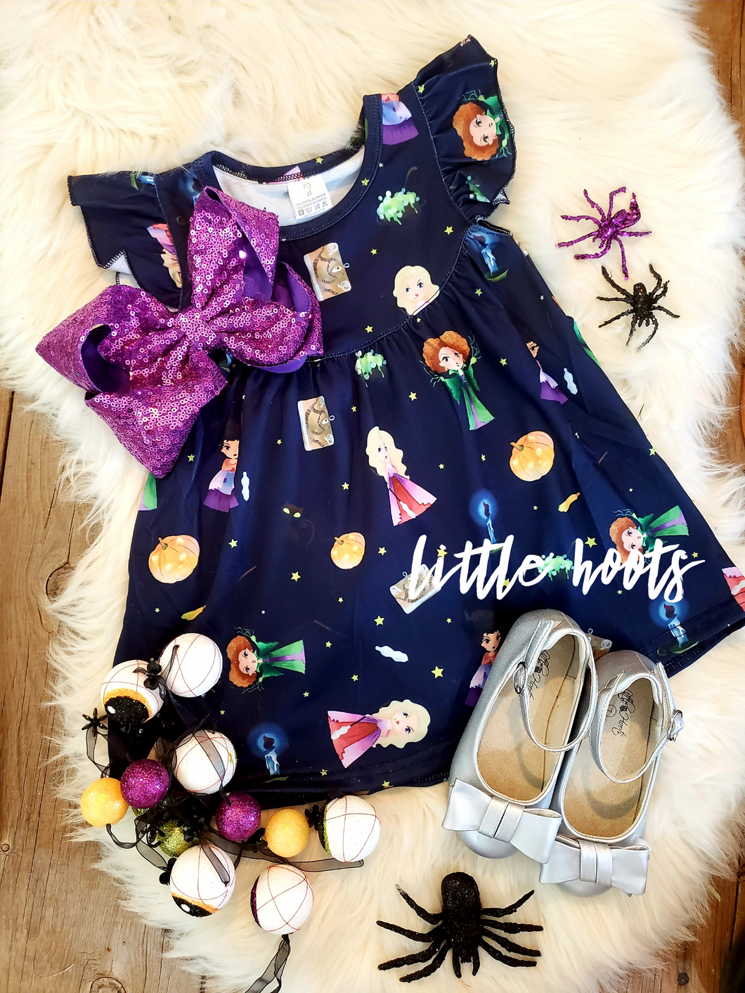 IN STOCK! Hocus Pocus All Knit Flutter Dress