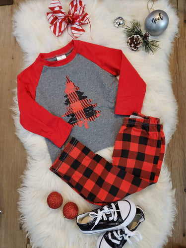 IN STOCK! Plaid Tree PJs