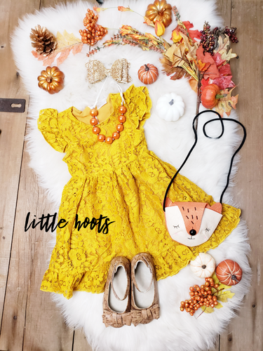IN STOCK! Yellow Lace Dress