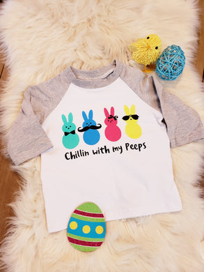 IN STOCK! Peeps Gray Raglan
