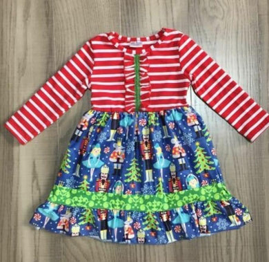 Preorder! Red Stripe Nutcracker Dress