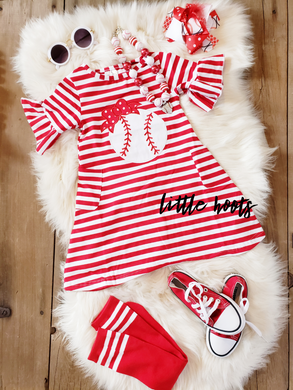 IN STOCK! Baseball Pocket Dress