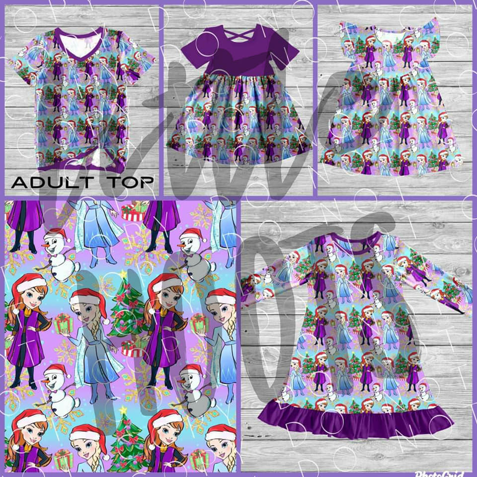 IN STOCK! Icy Sister Holiday PJ Gown 6/7