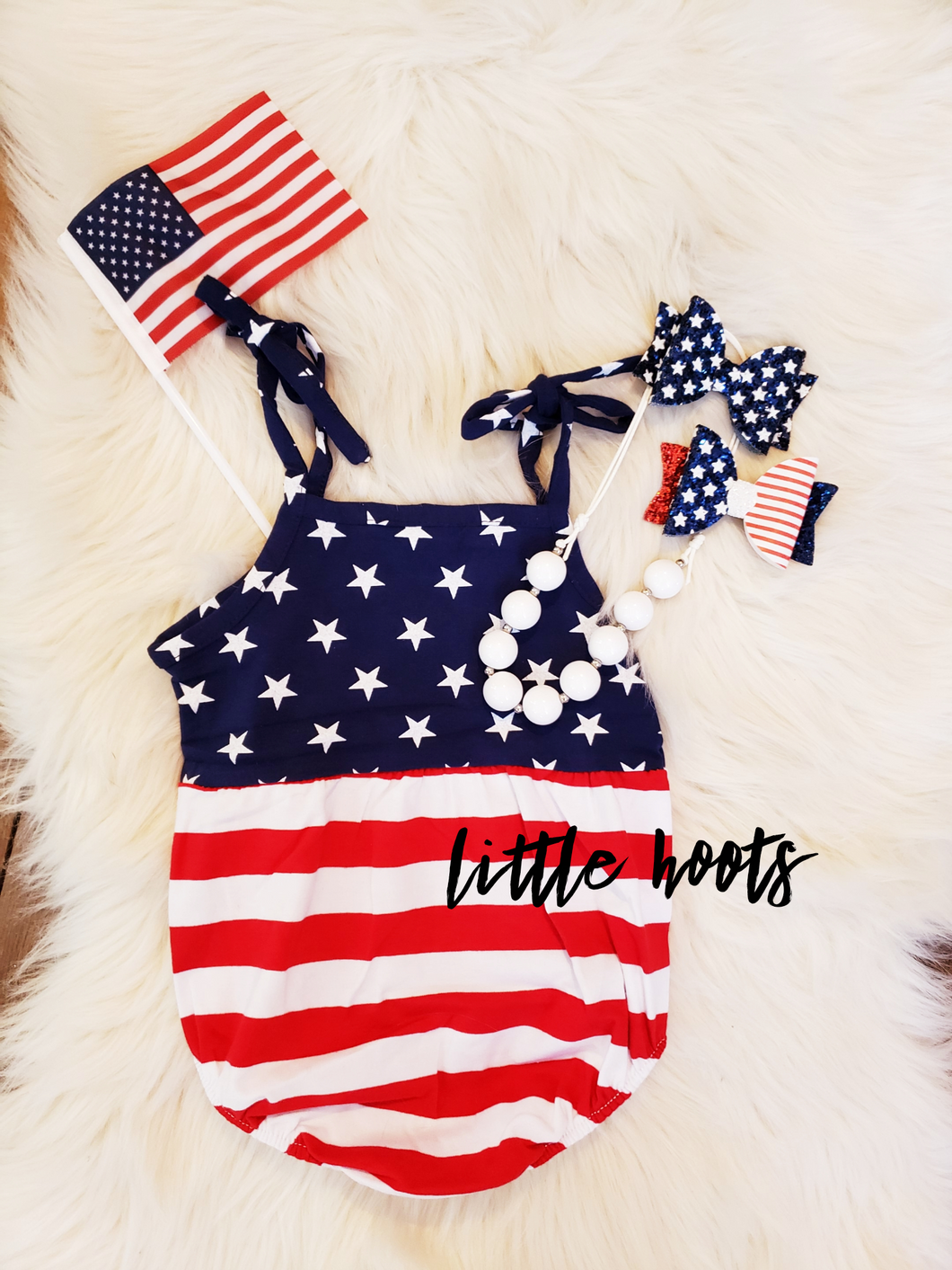 sale! IN STOCK! Patriotic Bubble Romper
