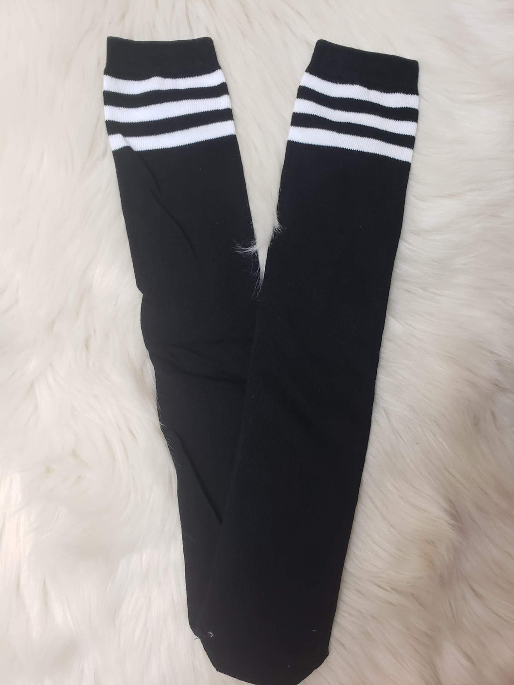 INVENTORY LIQUIDATION! IN STOCK! Black and White Knee Socks
