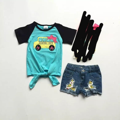 PREORDER! School Bus Denim Set