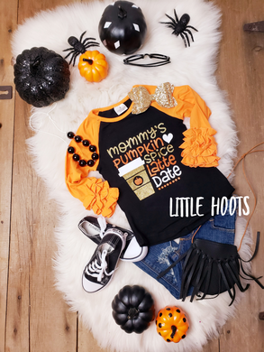 sale! IN STOCK! Mommy's Pumpkin Spice Date Raglan