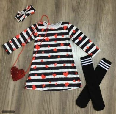 Preorder! Striped Valentine Dress and All accessories