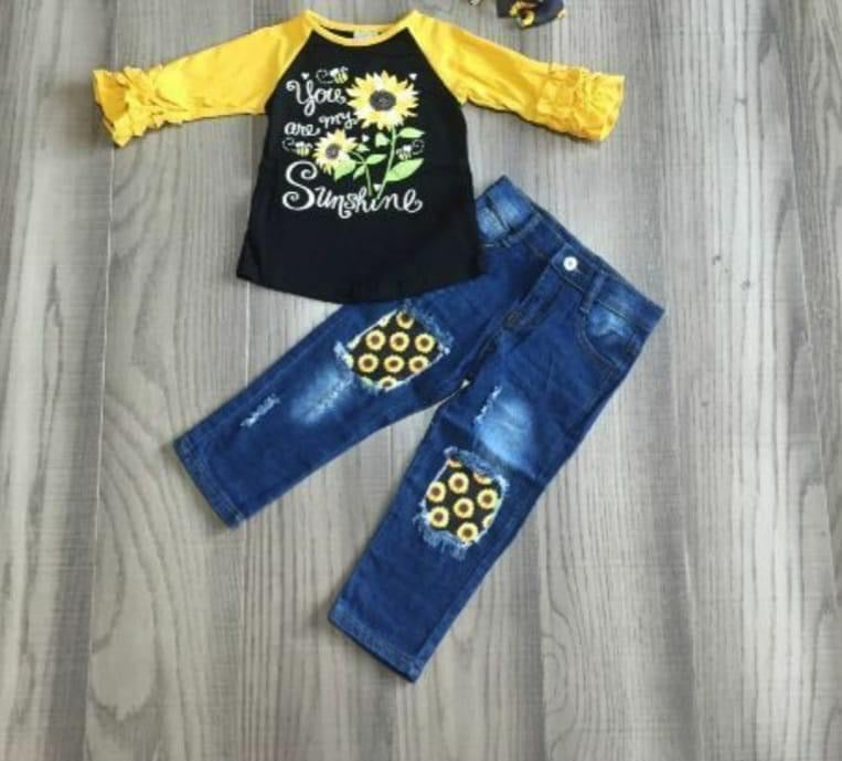 Preorder! Sunflower Denim Set