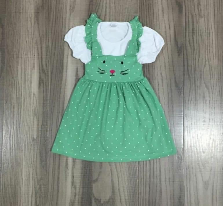 Preorder! Green Bunny Dress Set