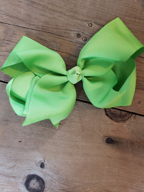 SALE! IN STOCK! 6 inch Lime Green Bow