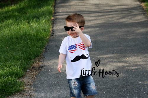 Summer Sale iN STOCK! Boys Patriotic Shades Tee