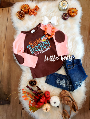 sale! IN STOCK! Cutest Turkey In Town Raglan