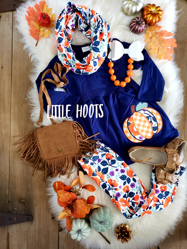 SALE! IN STOCK! Navy Pumpkin 3 Piece Set