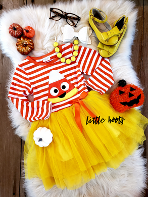 SALE!! IN STOCK! CANDY CORN TUTU DRESS