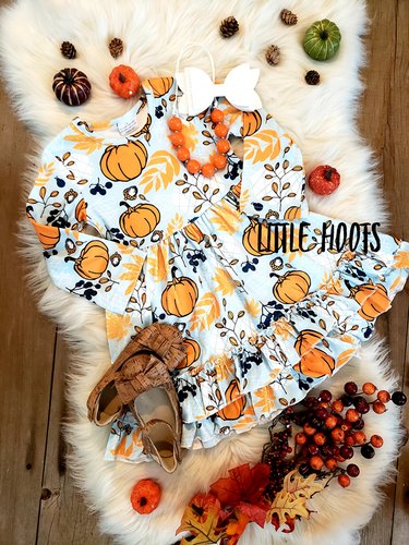 IN STOCK! Pumpkin Ruffle Dress