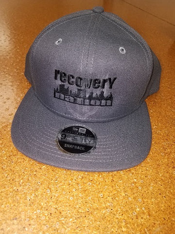 Charcoal Flat Bill Logo Hat