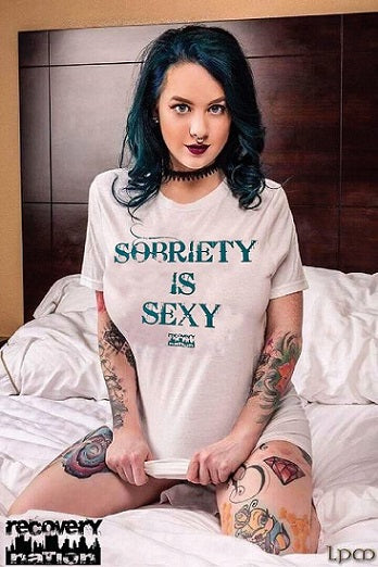 Sobriety Is Sexy T (White Unisex)