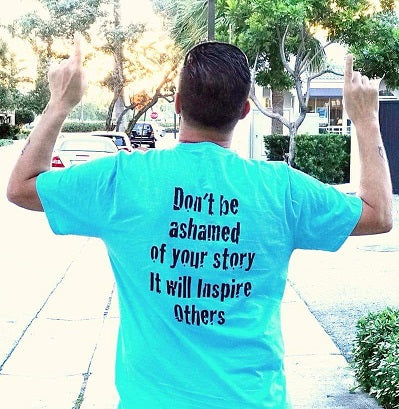 Don't Be Ashamed T (Aqua Blue Unisex)