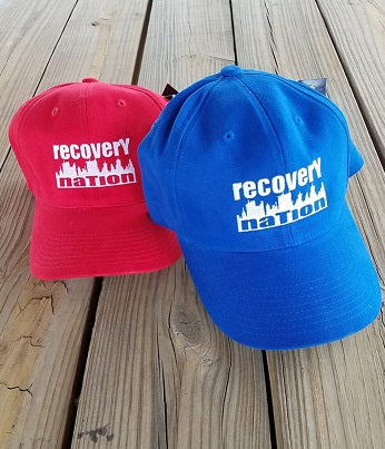 Fitted Logo Hat (Royal or Red Unisex)