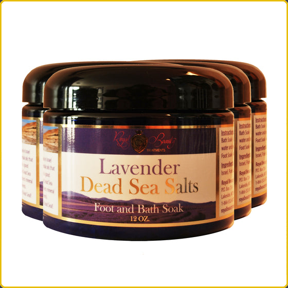 12oz. Lavender Dead Sea Salts  4-Pack