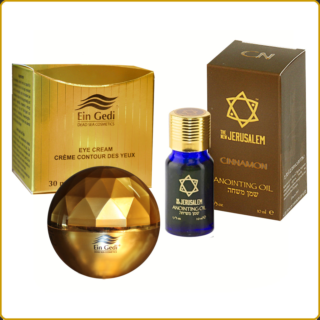 Ein Gedi Eye Cream 30ml. & New Jerusalem Cinnamon Blessing Oil 10ml. Combo