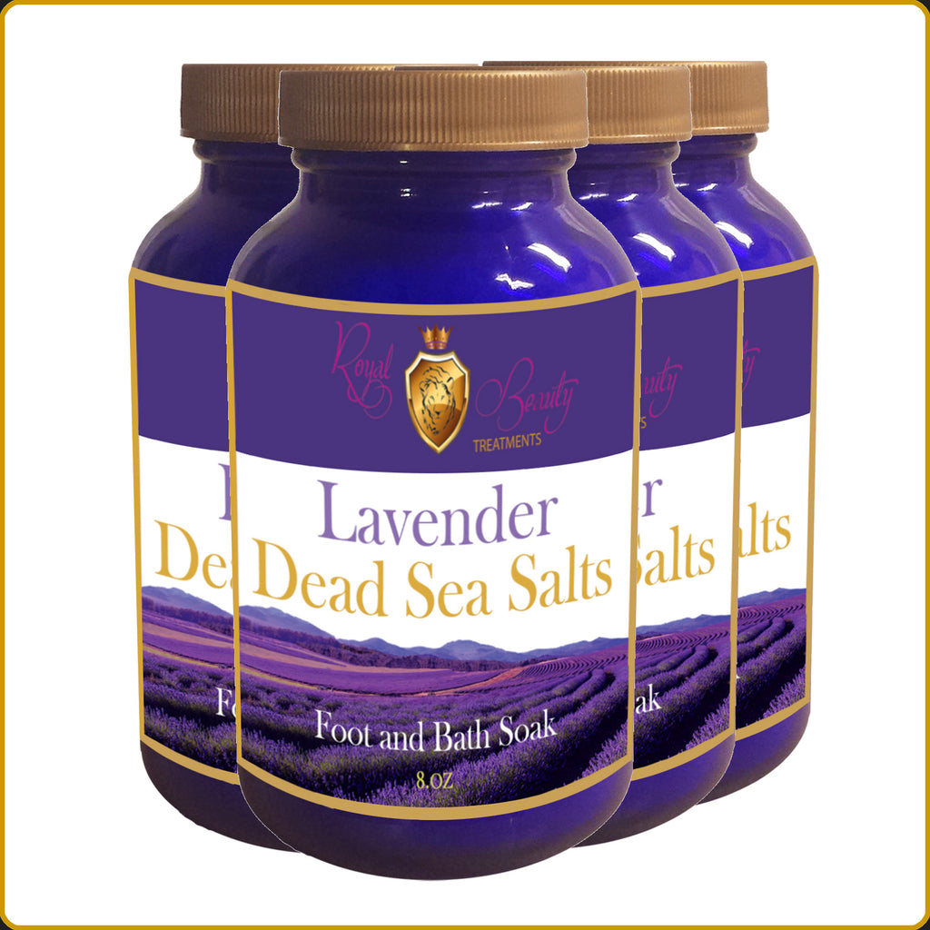 Lavender Dead Sea Salts 4 - Pack