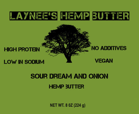 Coming Soon - 8 oz Laynee's Hemp Butter - Sour Dream and Onion