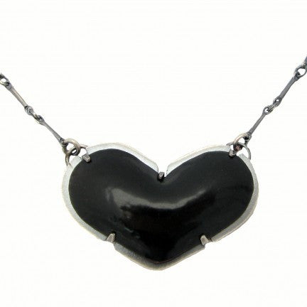 tiny enamel heart necklace - Lisa Crowder Jewelry