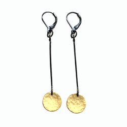 extra small single hammered disc earring - Lisa Crowder Jewelry