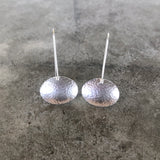 small concave oval earring - Lisa Crowder Jewelry